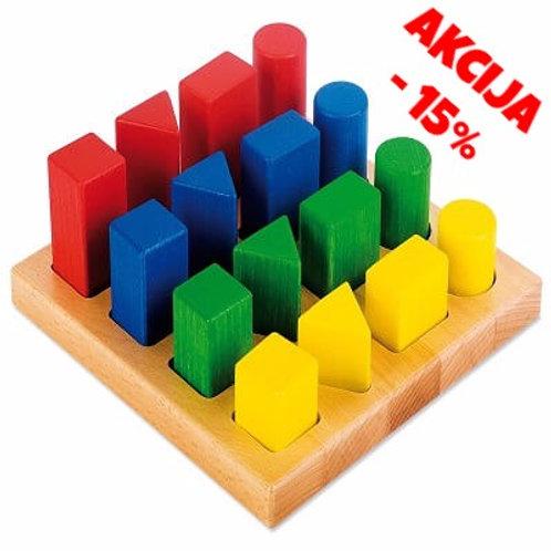 """Koka Rotaļlieta """"Ģeometriskās Figūras"""" NS0375"""