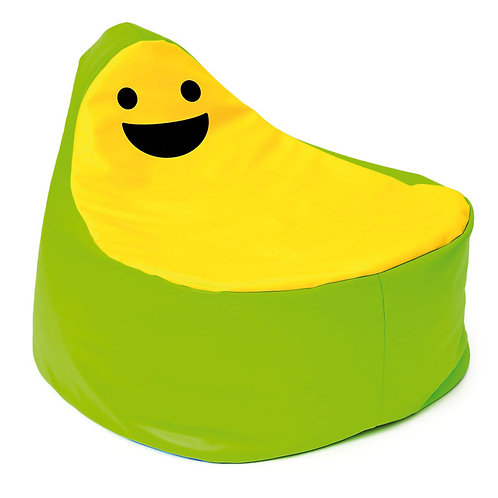 Smaidīgs sēžammaiss zaļš ar dzeltenu Ø 65cm x 63cm