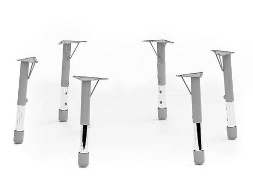 Regulējamas metāla kājas 46-53-59cm, 6 gb.