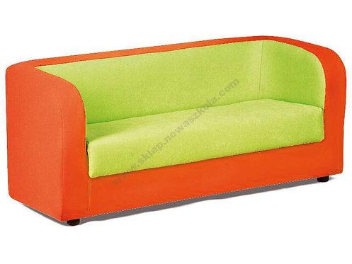 Dīvāns oranžs ar zaļu 120x60x55cm NS1015