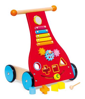 Aktivitātes stumjamā koka rotaļlieta CI3302