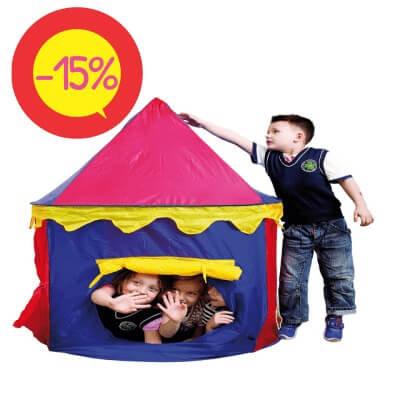 """Bērnu Rotaļu Telts """"Cirks"""" Ø105cm DW8725"""