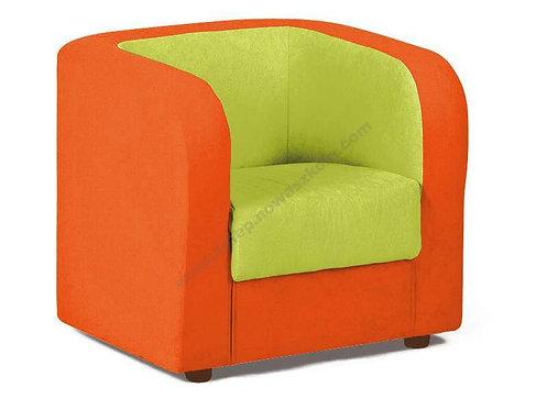 Klubkrēsls oranžs ar zaļu 50x60x55cm NS1016