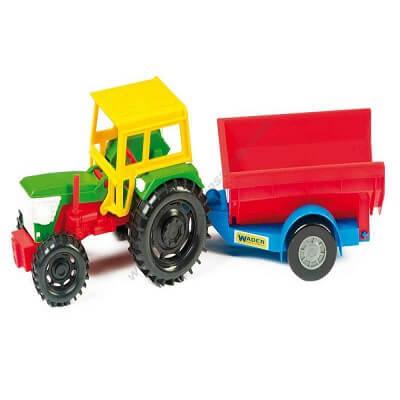 Traktors ar piekabi 38cm WW5001