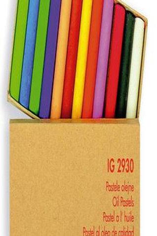 Eļļas pasteļu krītiņi XL 12 gb. Ø11mm 7cm IG2930