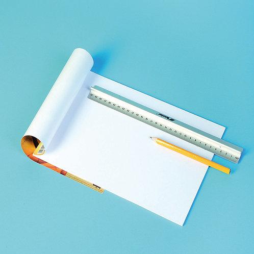 A4 rasēšanas bloks 10 lpp. balta papīra TM2020