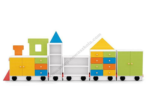 """Mēbeļu komplekts """"Lokomotīve ar 4 vagoniem"""" NS0256"""