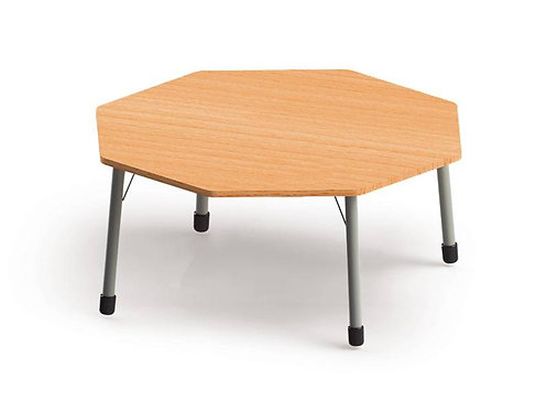 Astoņstūra galds ar reg. met. kājām 132x132cm