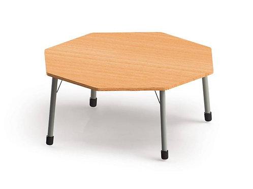 Astoņstūra galds ar metāla kājām 132x132cm, Ø142cm