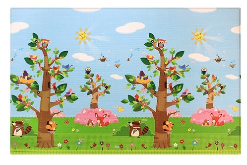 Baby Care Bērnu Paklājs - Putni Kokos L