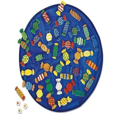 Spēle konfekšu paklājs