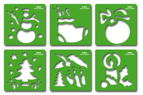 """Trafaretu komplekts """"Ziemassvētki"""" 6 gb. NS0918"""