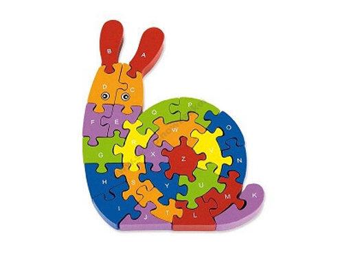"Koka puzle ""Alfabēta gliemezis"" 26 elementi VG5522"