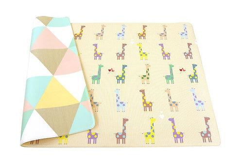Bērnu Rotaļu Paklājiņš - Krāsainās Žirafes M