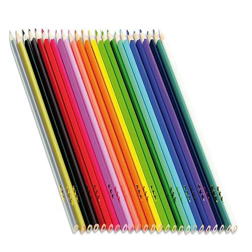 Krāsainie zīmuļi 24 gb. Ø7,3mm 17,6cm NS1058