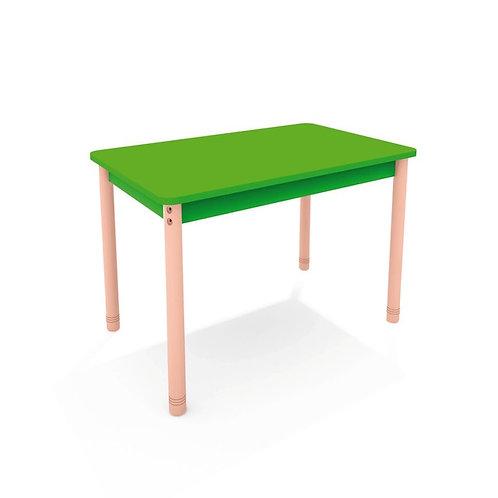 Taisnstūrveida galds ar krāsainu virsmu - 4 krāsas