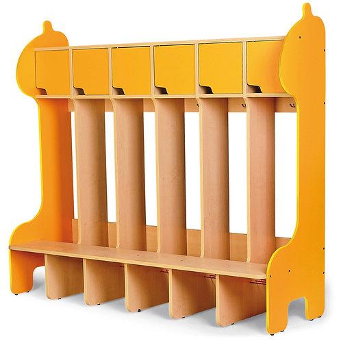 """Ģērbtuve """"Žirafe"""" ar 6 vietām 161x154x50cm NS1700"""