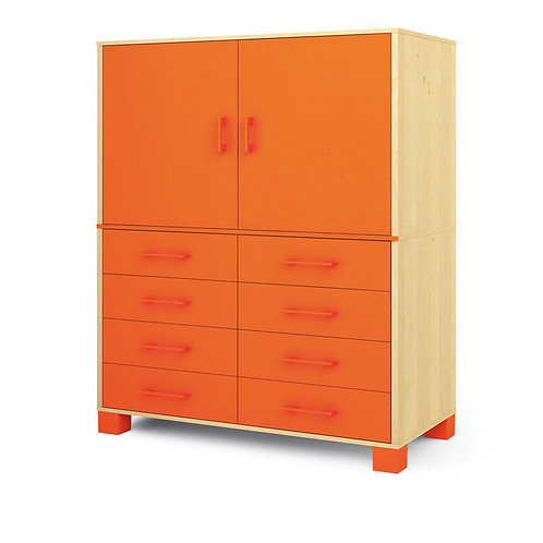 """Skapis ar durvīm un atvilktnēm """"Svaigi oranžs"""""""