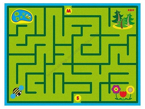 """Mīkstais paklājs """"Labirints"""" 3x4m HK0005"""