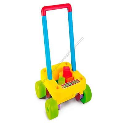 Rotaļu ratiņi ar blokiem