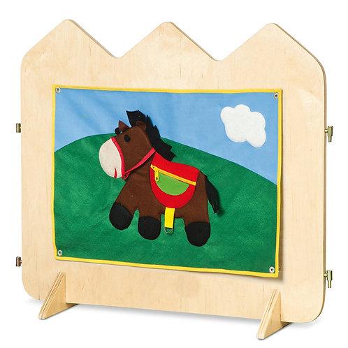 """Manipulatīvā sēta """"Zirgs"""" 81x63x22 cm NS0088"""