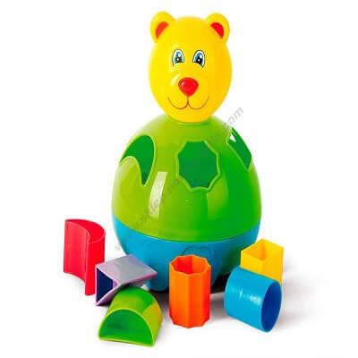 Krāsains lācis figūru šķirotājs