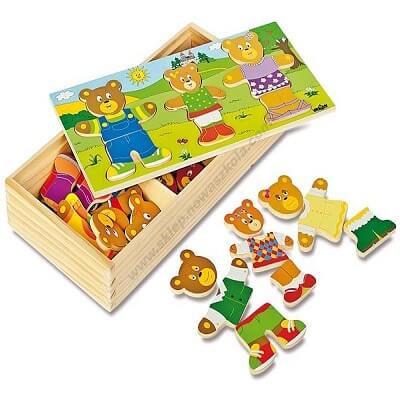 Krāsaina koka puzle Lāču ģimene WD0810