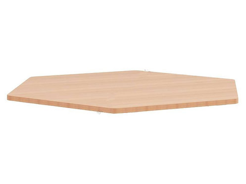 Sešstūrveida galda virsma Ø138cm