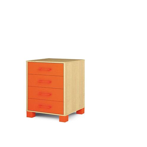 """Mazā kumode ar atvilktnēm """"Svaigi oranža"""" NM1021"""