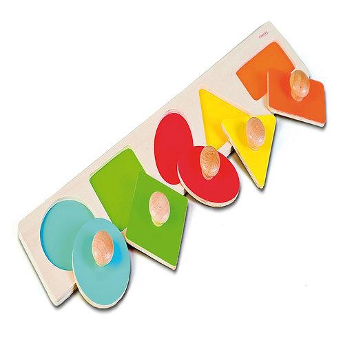 """Koka puzle """"Ģeometriskās figūras"""" 48x8,5cm CI3950"""
