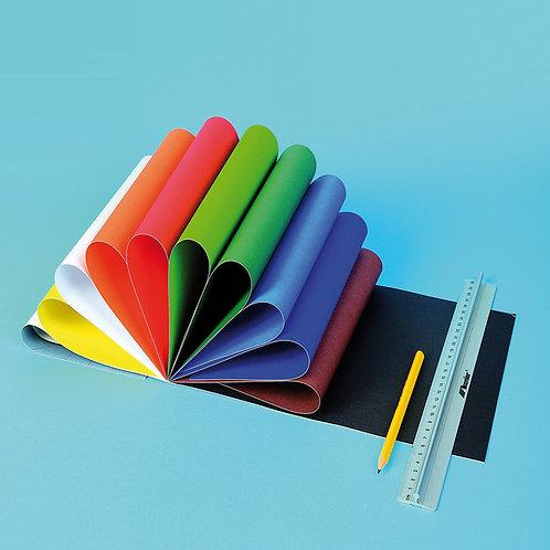 A4 divpusēja krāsainā kartona bloks 30 lpp. TM2032