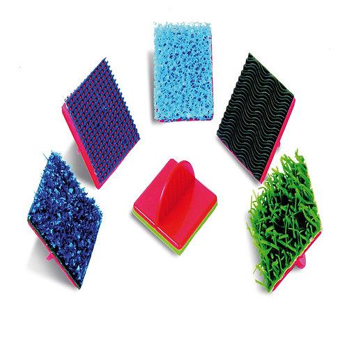 Dažādu tekstūru zīmodziņi 6 gb. 6x6cm AP0434
