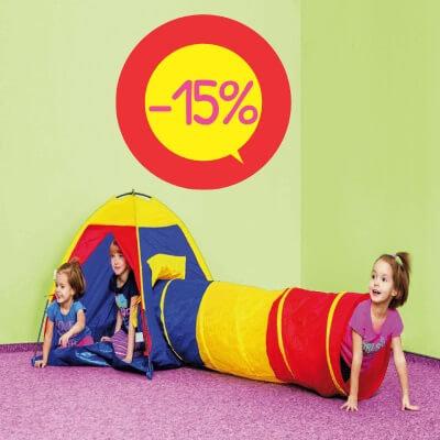 Rotaļu Telts ar tuneli Ø48cm 180cm DW8903