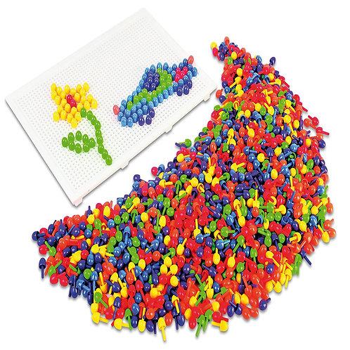 Mozaīku mazās plastmasas nagliņas 1500 gb. PG0097