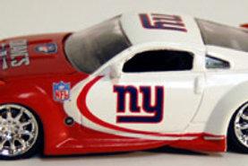 2007 New York Giants ERTL Dodge Viper & Nissan 350Z