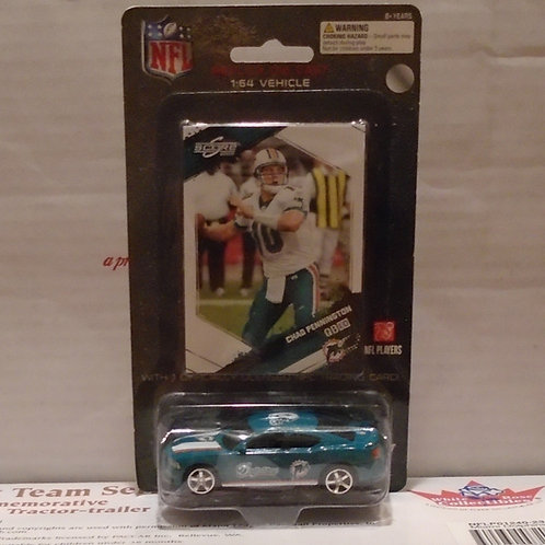 2009 Miami Dolphins Dodge Charger w/Chad Pennington Card