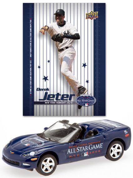 2008 New York Yankees Chevrolet Corvette w/ Derek Jeter Card