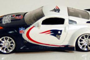 2007 New England Patriots ERTL Home & Away Dodge Viper & Nissan 350Z