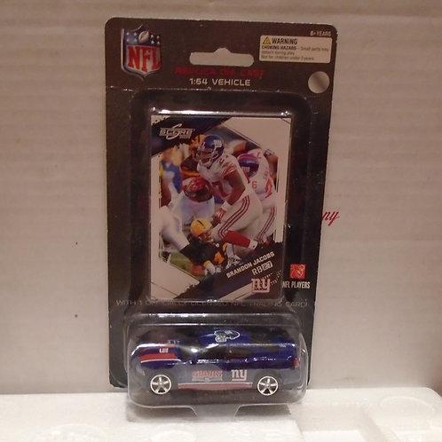2009 New York Giants Dodge Charger w/Brandon Jacobs Card