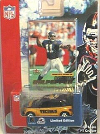 2001 Minnesota Vikings PT Cruiser w/ Dante Culpepper Card