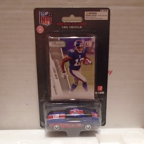 2010 New York Giants Ford Mustang w/Steve Smith Card