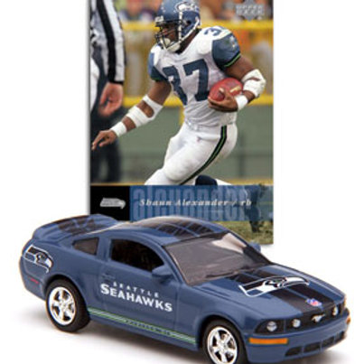 2006 Seattle Seahawks Ford Mustang w/ Shaun Alexander Card