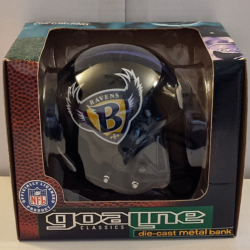 1996 Batlimore Ravens ERTL Mini Helmet Bank