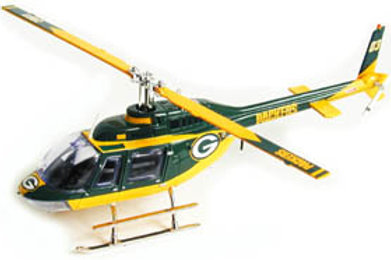 2003 Green Bay Packers Bell Jet Helicopter