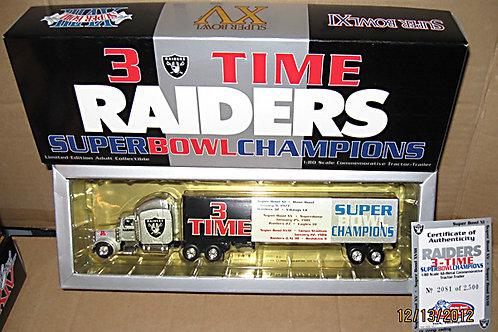 2000 Oakland Raiders 3X Super Bowl Champions Tractor Trailer
