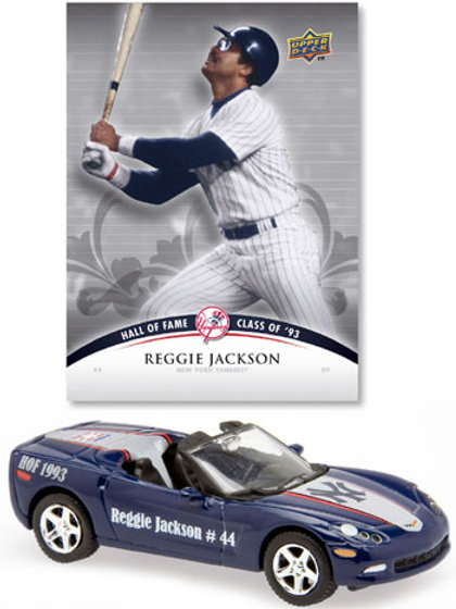 2008 New York Yankees Chevrolet Corvette w/ Reggie Jackson Card