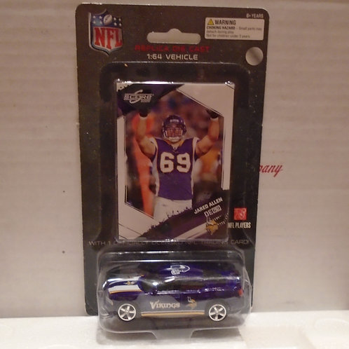 2009 Minnesota Vikings Dodge Charger w/Jared Allen Card
