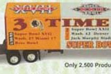 2000 Washington Redskins 3x Super Bowl Champions Tractor Trailer