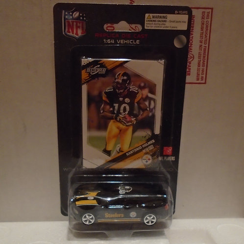 2009 Pittsburgh Steelers Dodge Charger w/Santonio Holmes Card