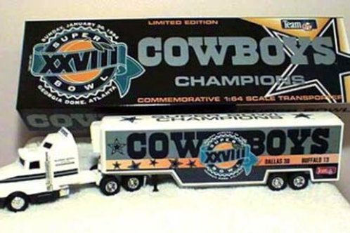1994 Dallas Cowboys Super Bowl XXVIII (28) Large Tractor Trailer
